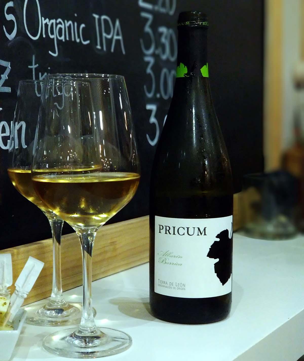Pricum Albarin Barrica vino 2016
