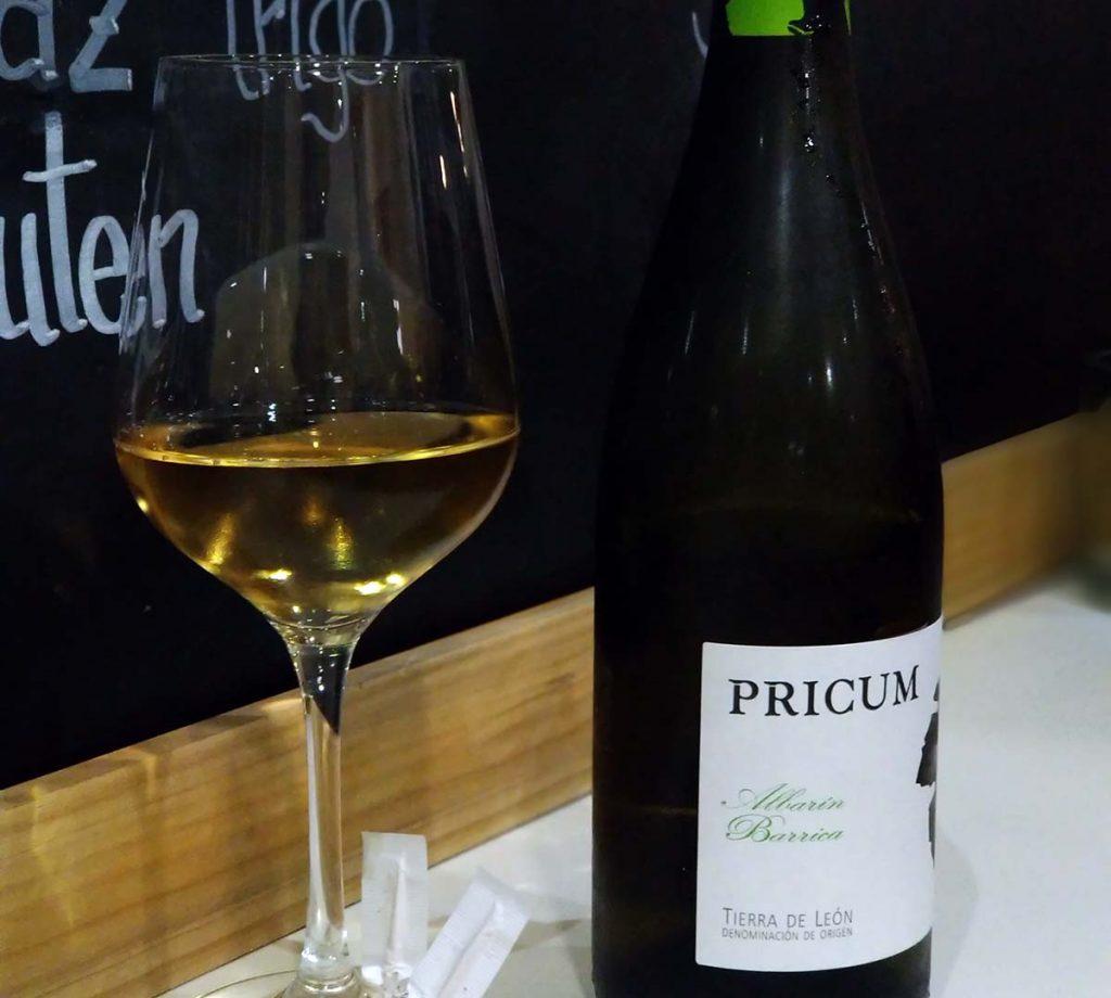 Pricum Albarin Barrica vino 2016 etiqueta