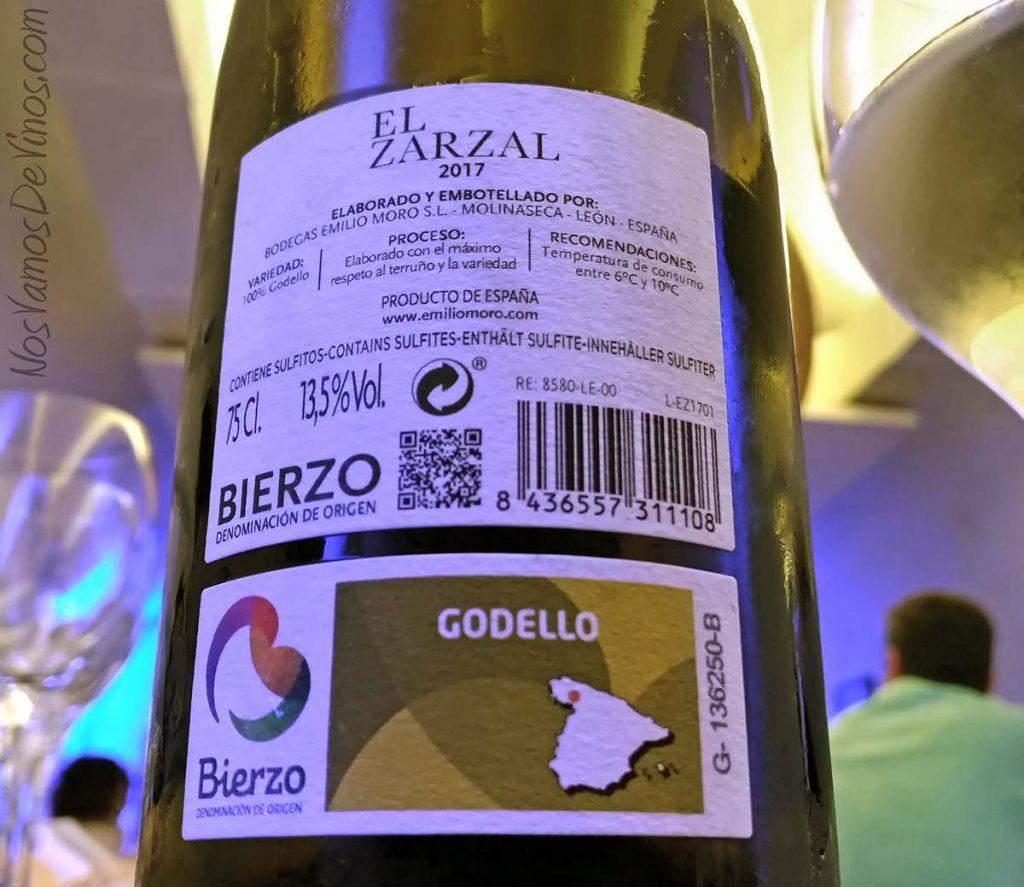 El-Zarzal-2017-Godello-Emilio-Moro-vino-etiqueta-trasera