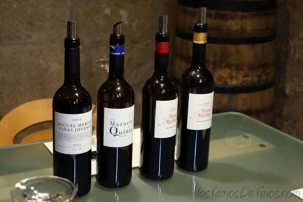 Cata de vinos bodega Miguel Merino, Briones, La Rioja