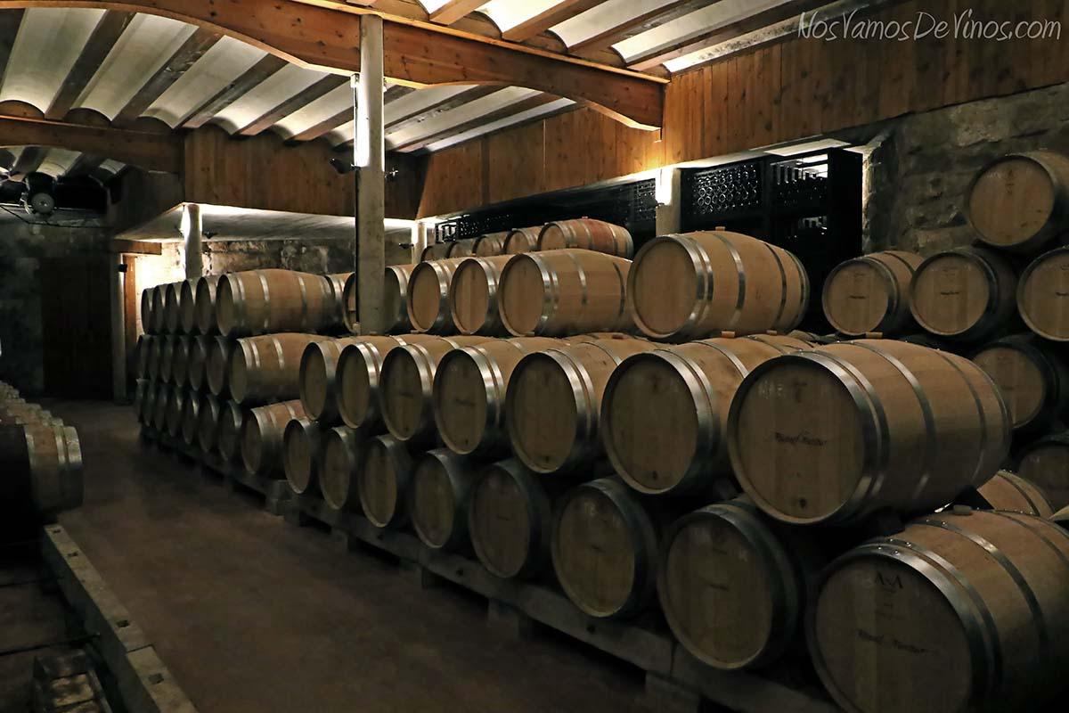Sala de barricas bodega Miguel Merino, Briones, La Rioja