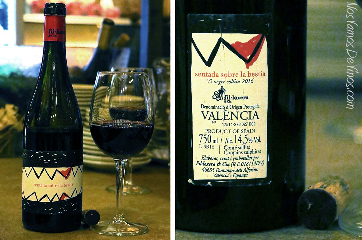 Sentada sobre la Bestia vino DO Valencia