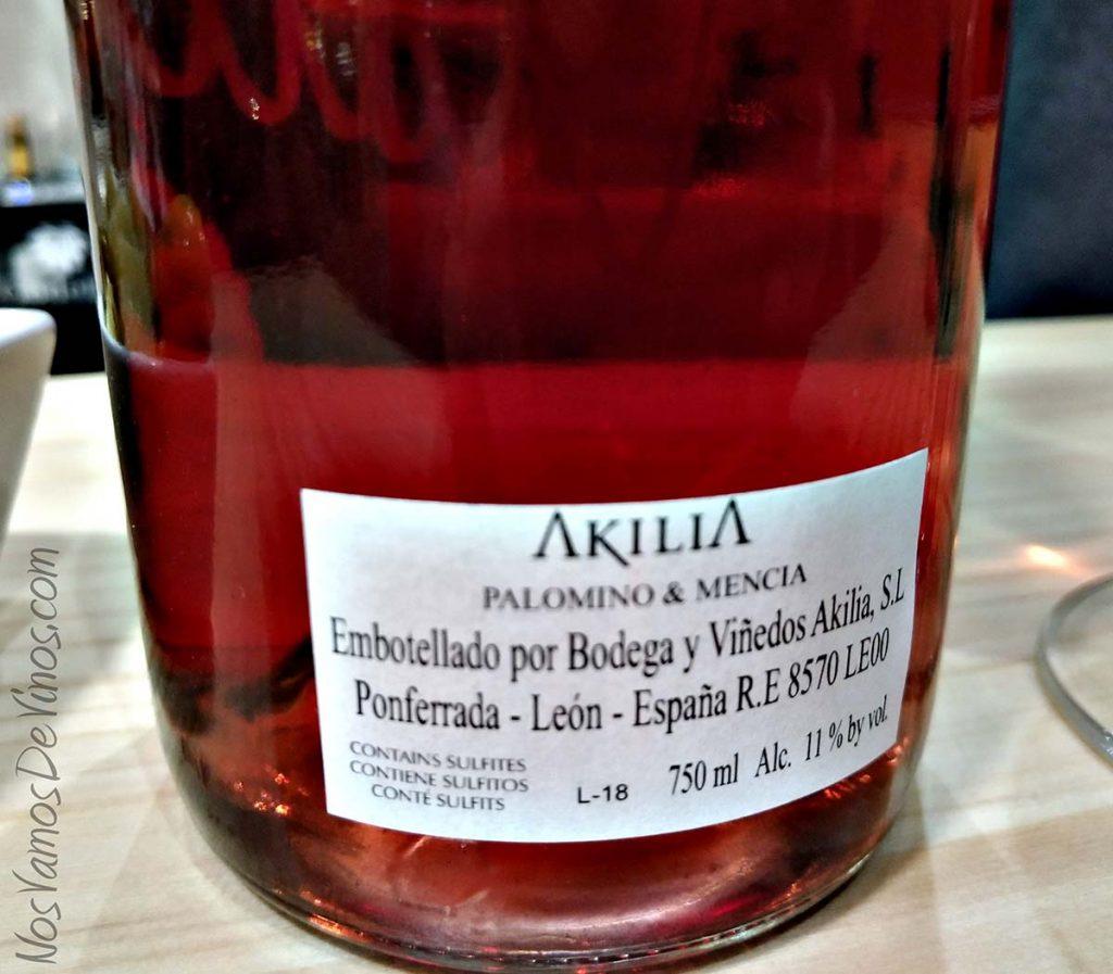 Clarete 16 De Akilia Etiqueta trasera