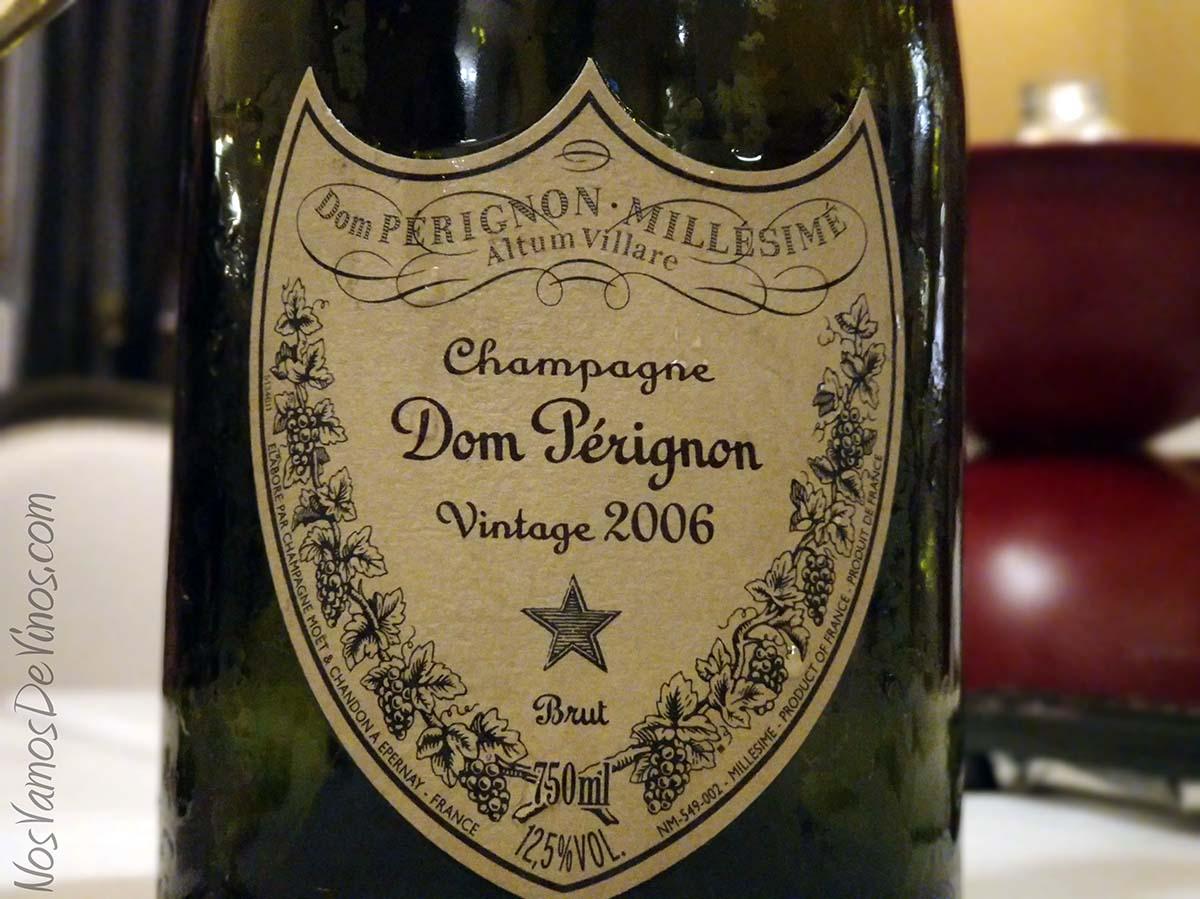 Dom Perignon Vintage 2006 Etiqueta