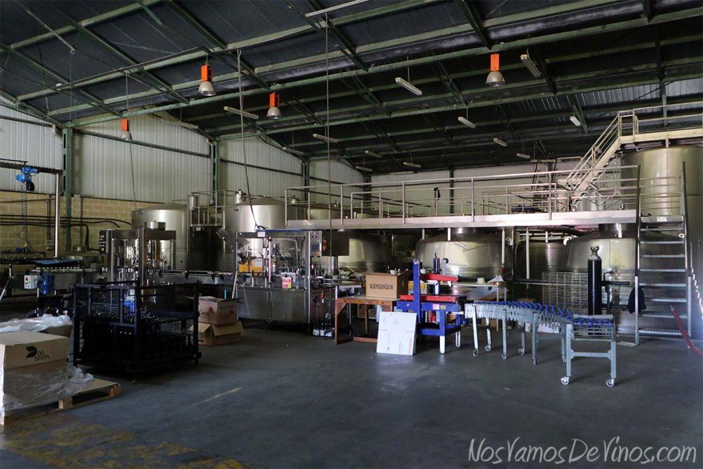 Bodegas y viñedos Luna Beberide, sala de fermentación