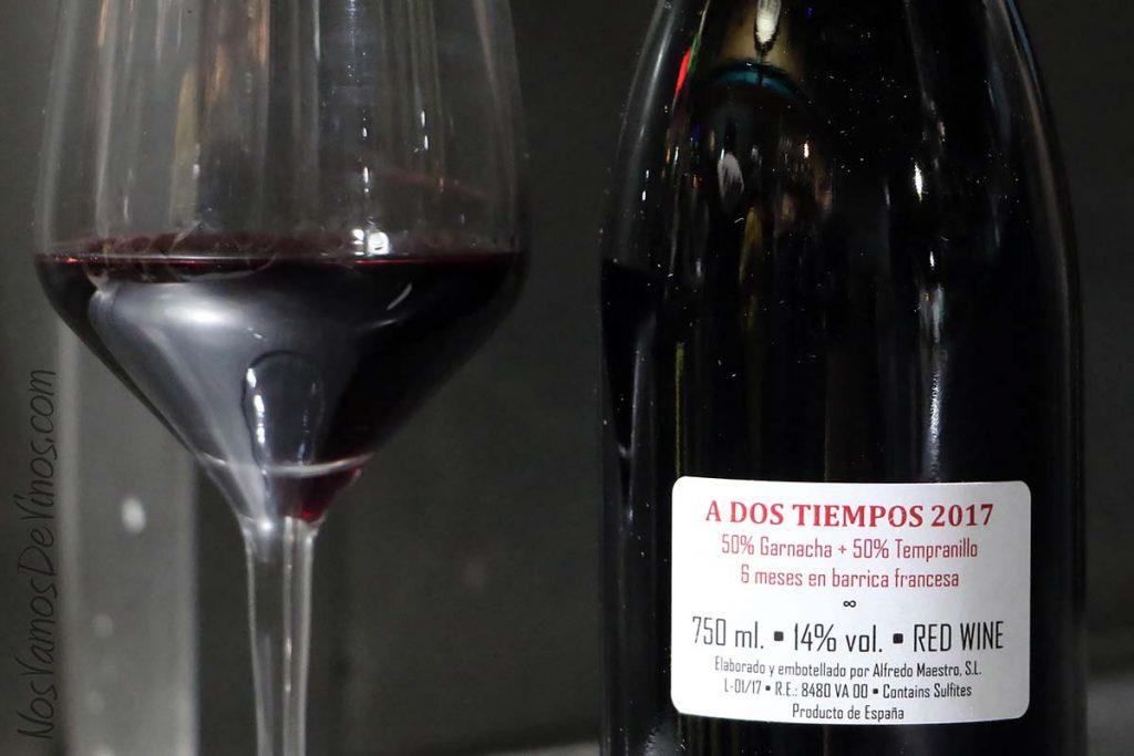 A Dos Tiempos un Vino de Alfredo Maestro Etiqueta Trasera