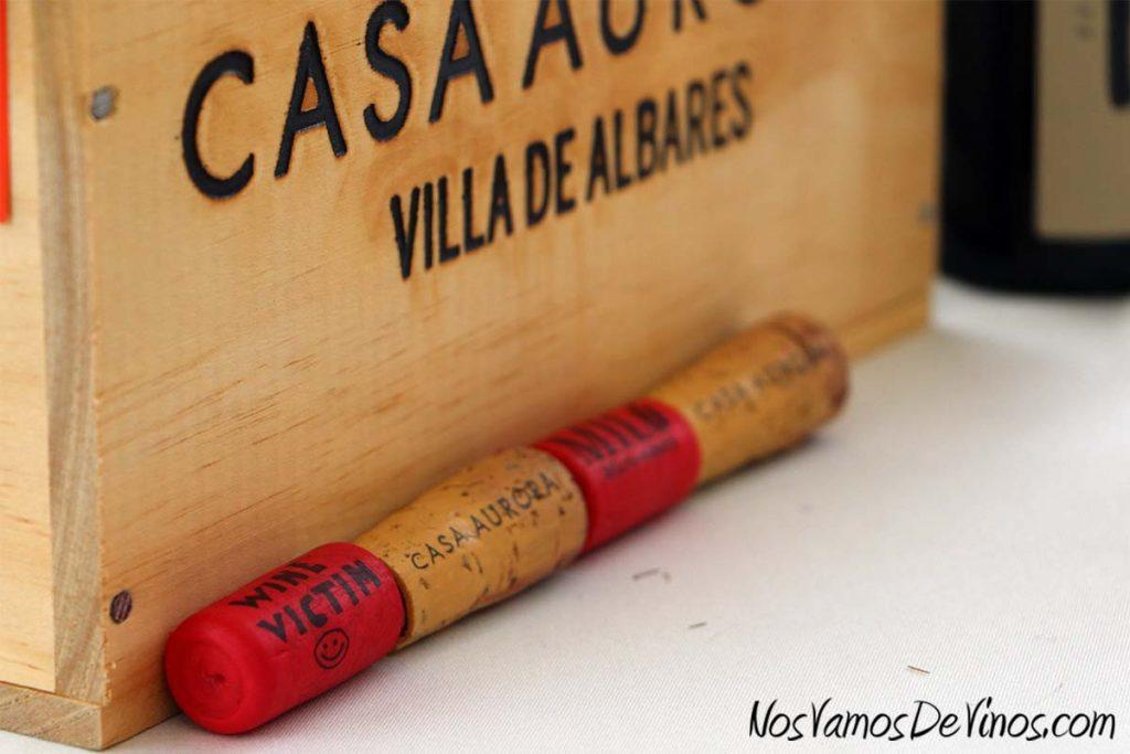 Evento Sarmiento X. Corchos de vinos de Casa Aurora