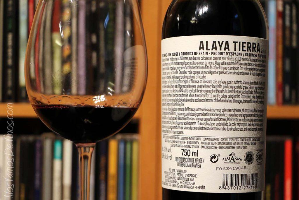 Alaya Tierra 2016 Bodegas Atalaya Trasera