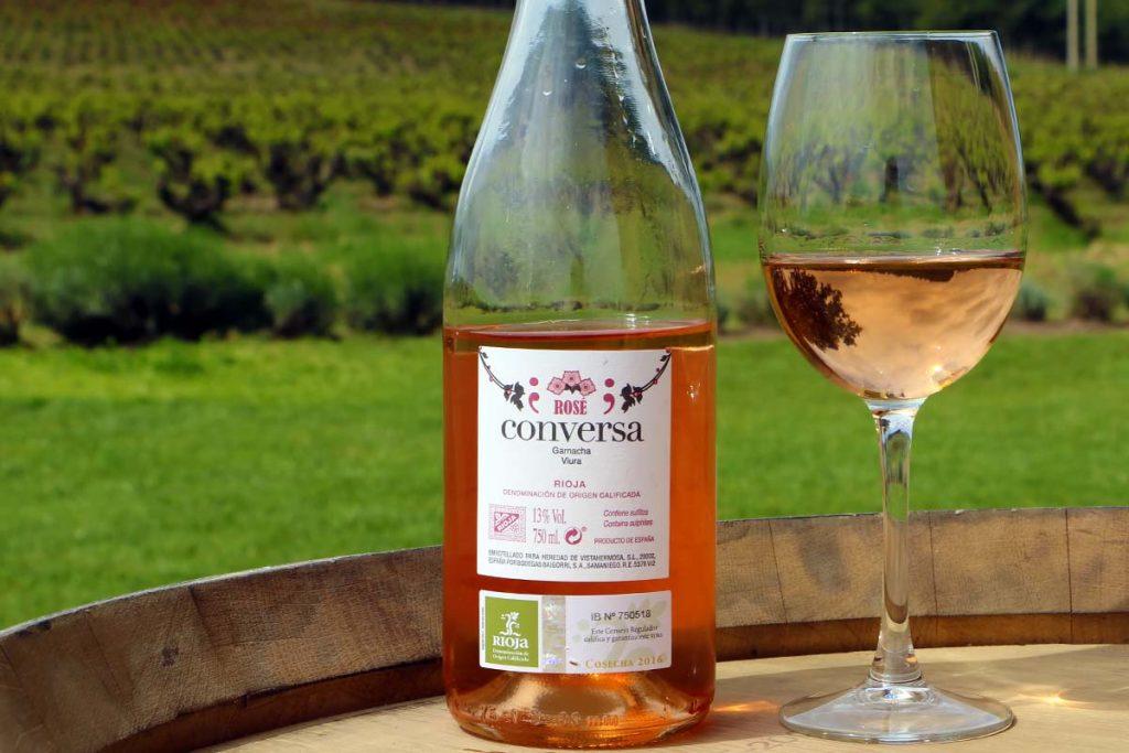 Conversa Rosé 2016 Rioja trasera
