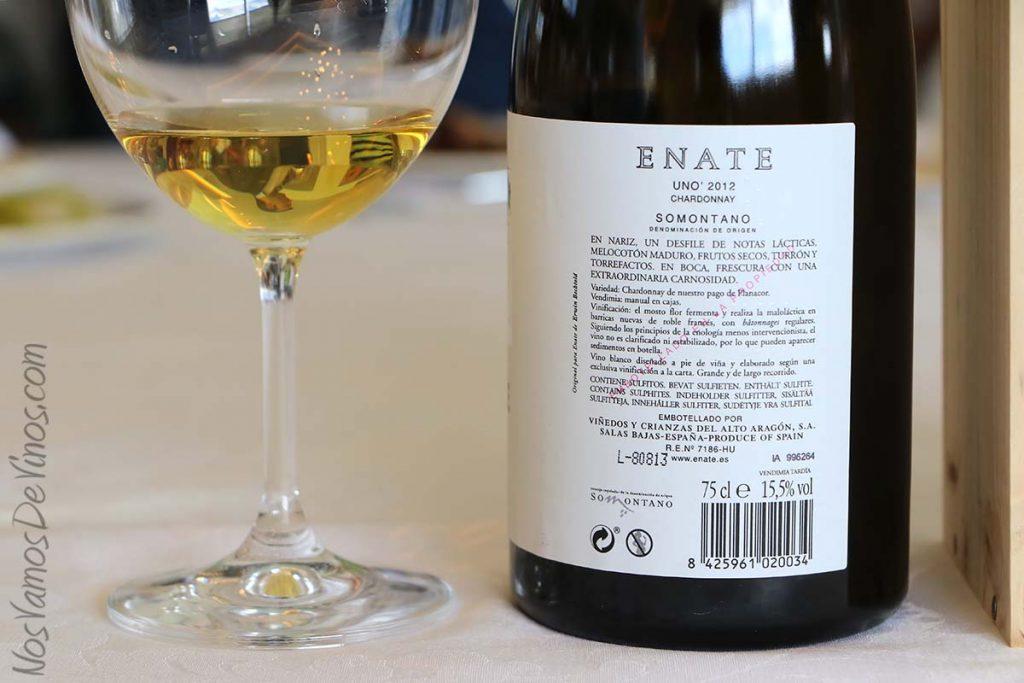 Uno 2012 Chardonnay Enate Trasera