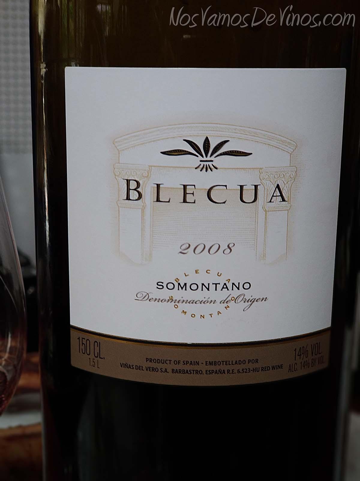 Blecua 2008 Somontano Detalle Etiqueta