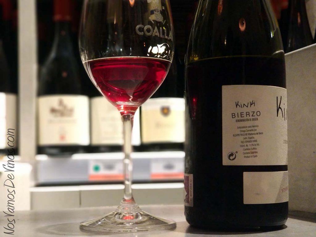 Kinki 2018 un vino de Verónica Ortega Trasera