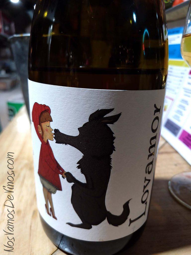 Lovamor 2018 un vino de Alfredo Maestro Detalle dibujo etiqueta
