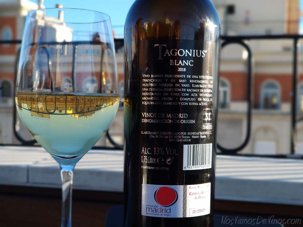 Tagonius Blanc 2018 Etiqueta Trasera