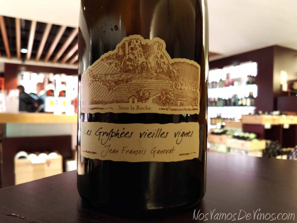 Les Gryphées Vieilles Vignes Chardonnay 2015 Ganevat Detalle etiqueta