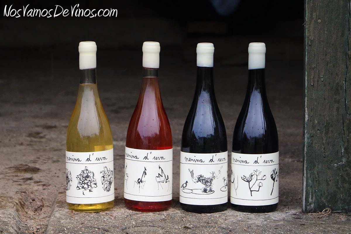 Menina d'Uva. El proyecto vitivinícola de Aline Domingues. Gama de vinos: Líquen, Ciste, Palomba y Empusa.