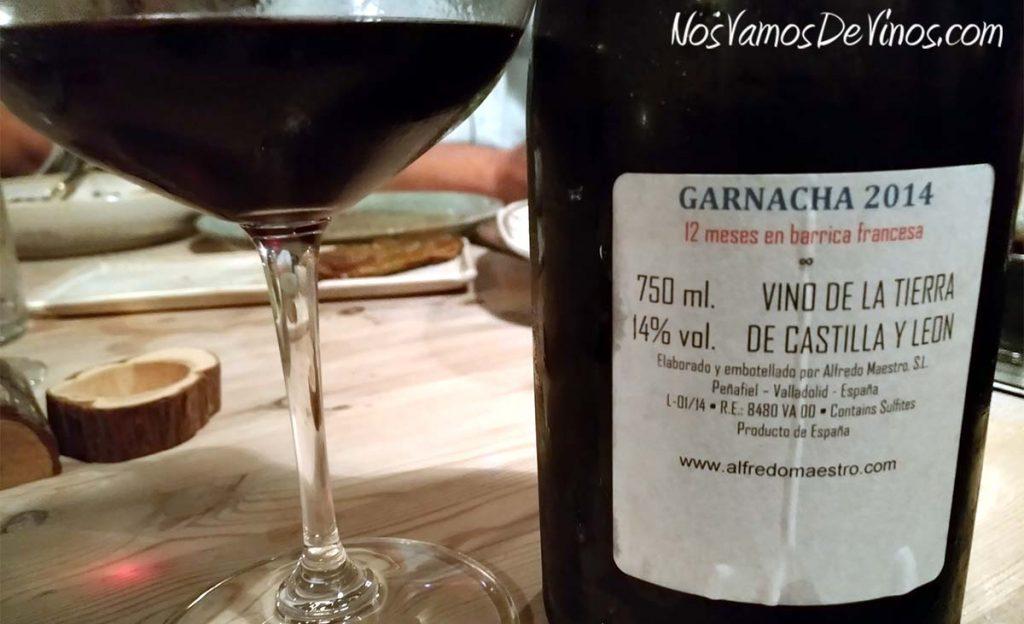 Viña Almate Garnacha 2014 Un vino de Alfredo Maestro Trasera