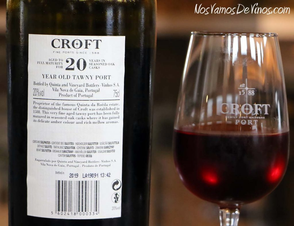 Croft 20 Years Old Tawny Etiqueta Trasera