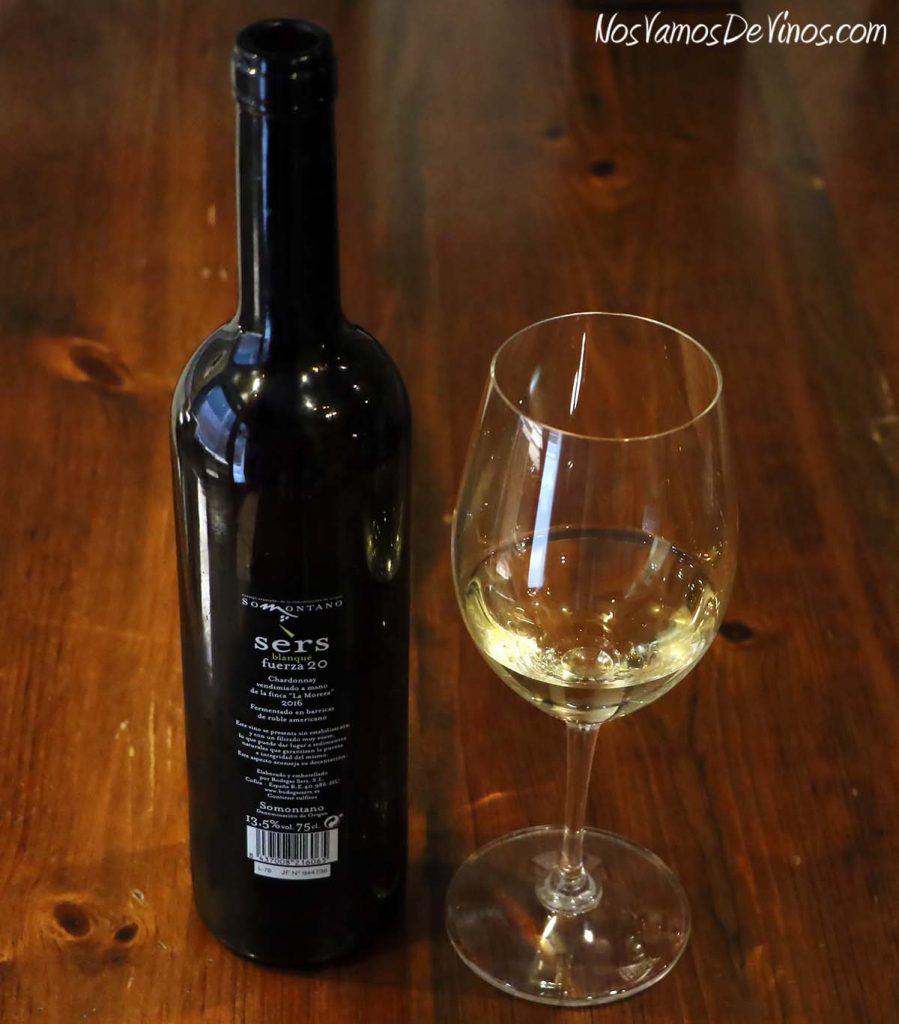 Sers Blanqué Fuerza 20 Chardonnay 2016 etiqueta trasera