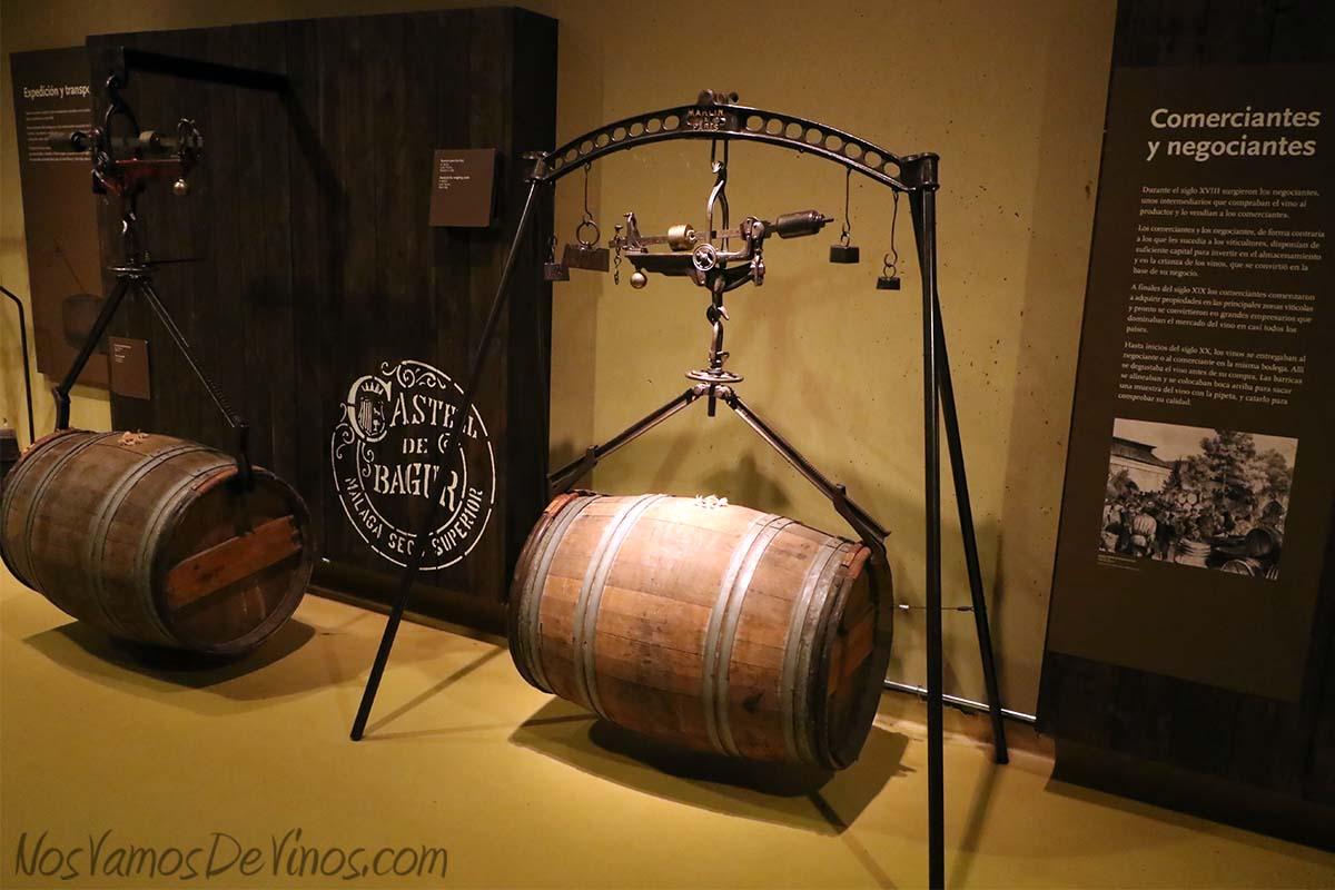 Museo Vivanco de la Cultura del Vino. Pesaje de barrica.