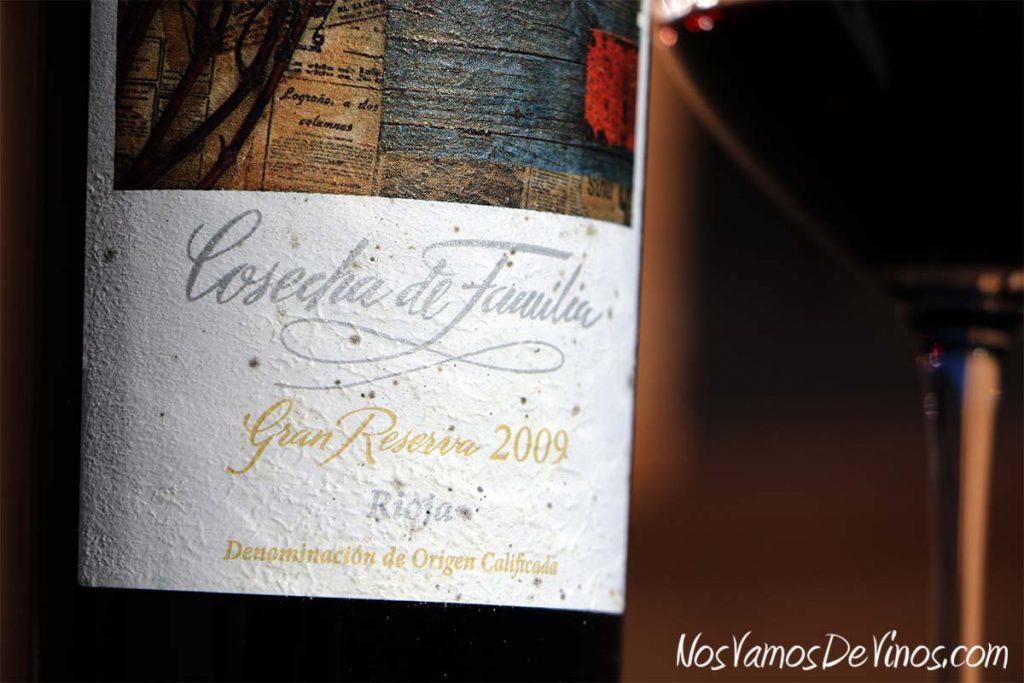 Beronia Cosecha de Familia Gran Reserva 2009 Detalle de la Etiqueta