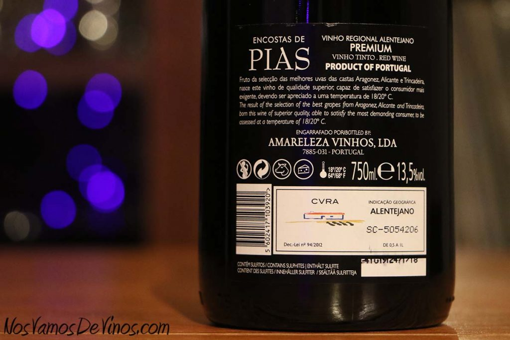 ncostas de Pias Premium 2018 Trasera
