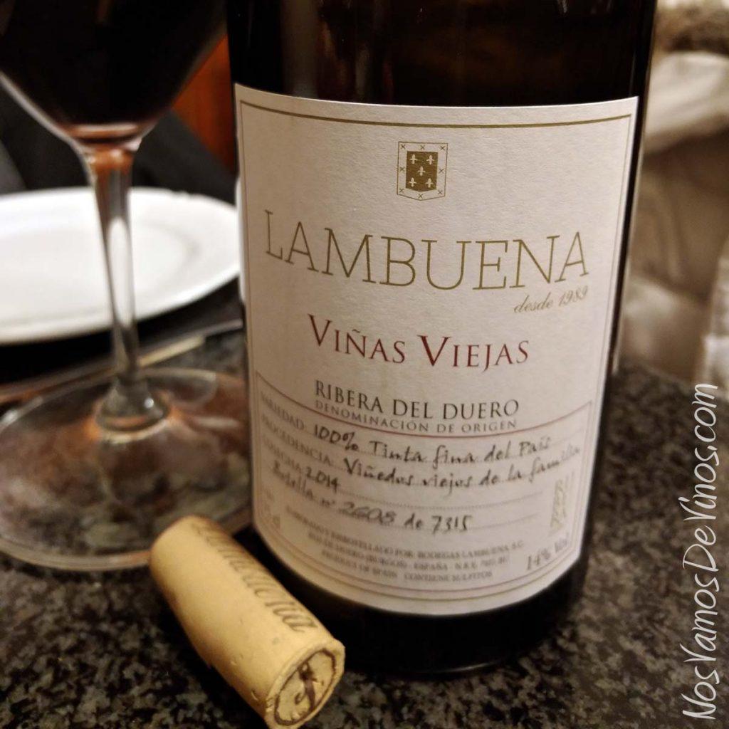 Lambuena Viñas Viejas 2014 detalle etiqueta