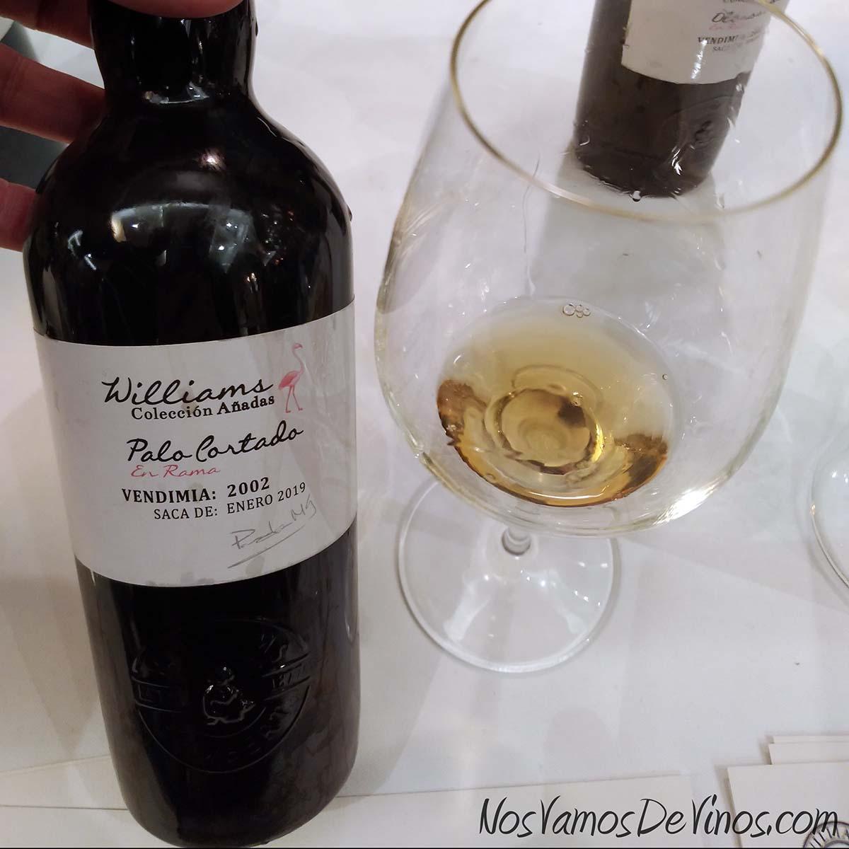 Williams & Humbert Colección Añadas Palo Cortado en Rama 2002 V Salón de los Vinos Generosos