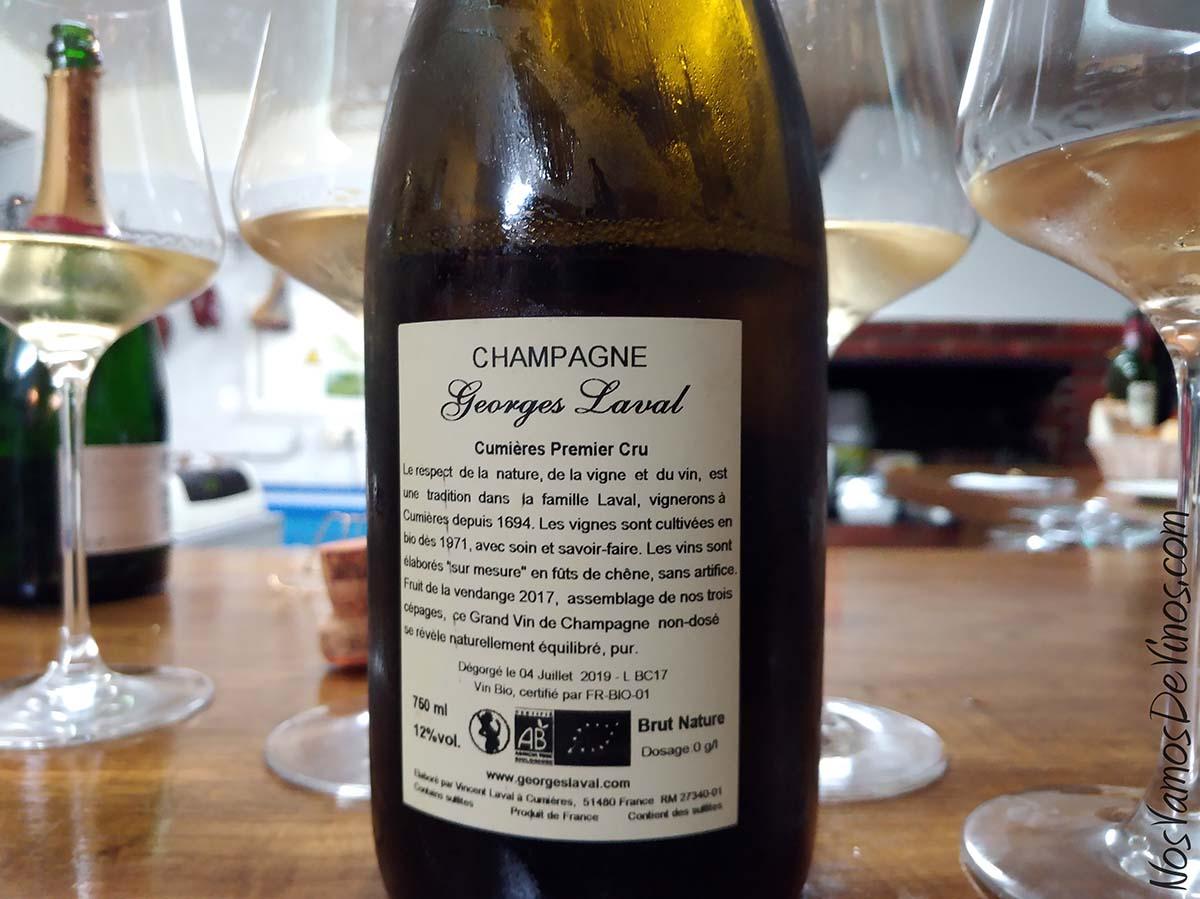 Champagne Georges Laval Cumières Premier Cru Etiqueta Trasera