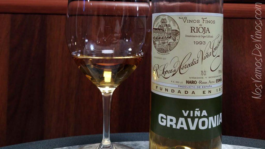 Viña Gravonia 1993 Detalle Etiqueta
