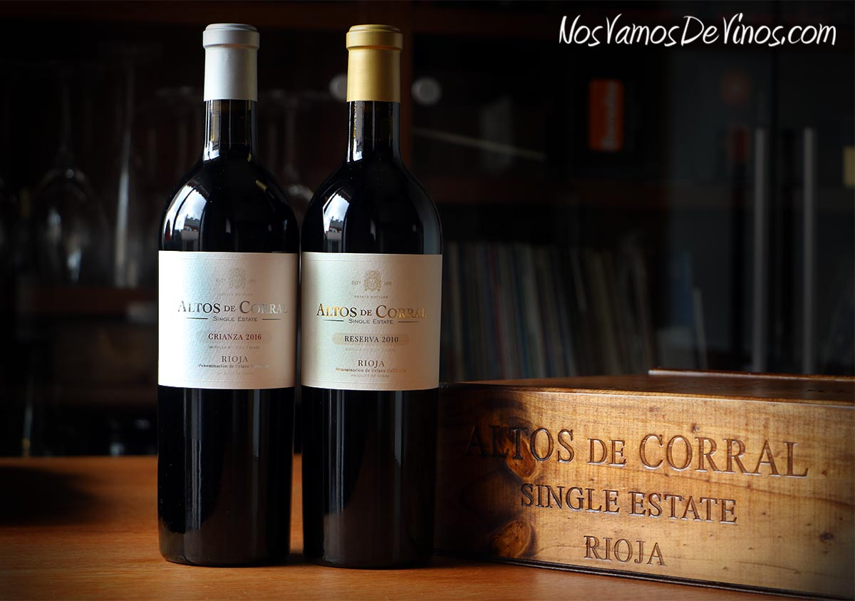 Altos de Corral Crianza 2016 y Altos de Corral Reserva 2010.