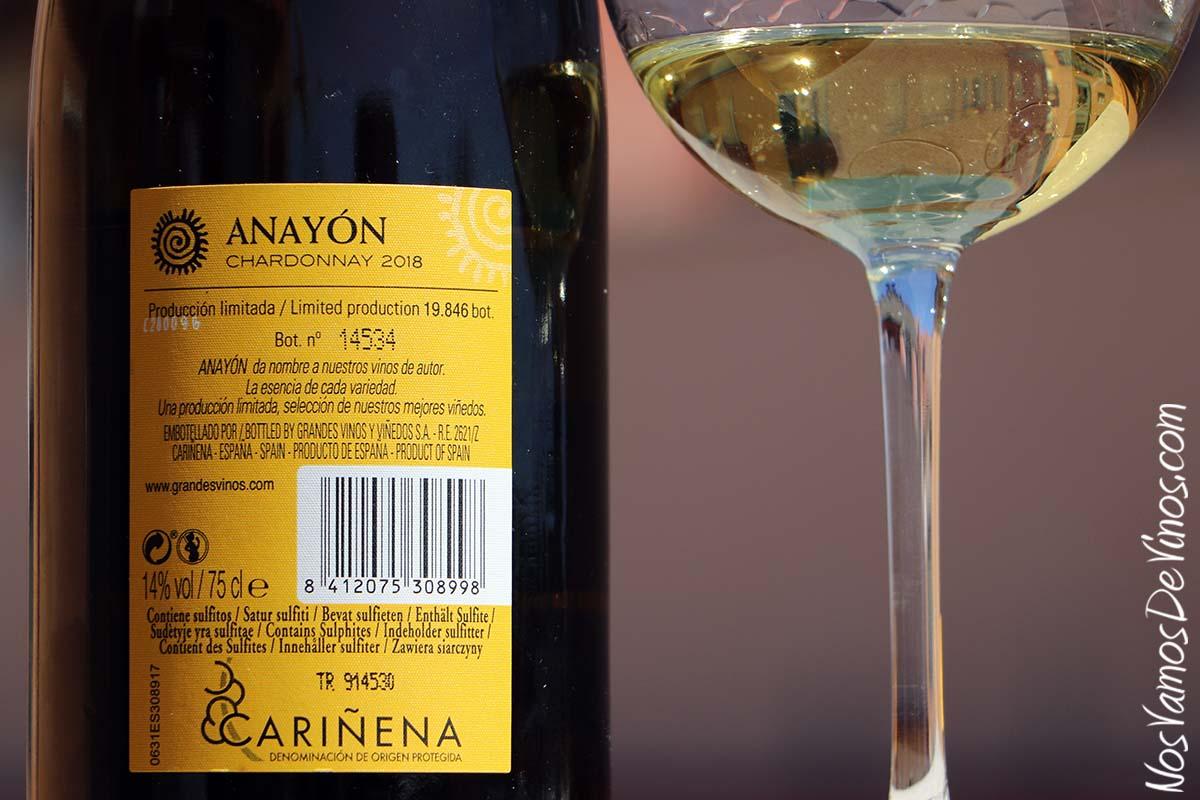 Anayón Chardonnay 2018 Etiqueta Trasera