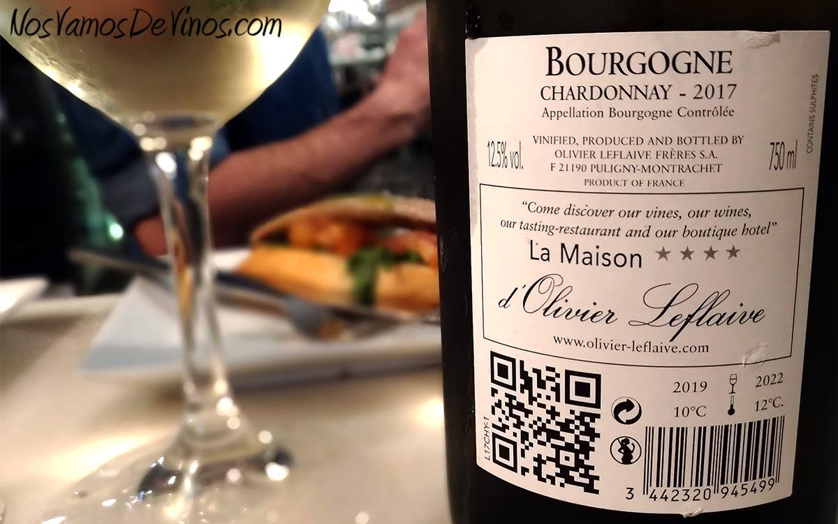 Olivier Leflaive Bourgogne Chardonnay 2017 Trasera