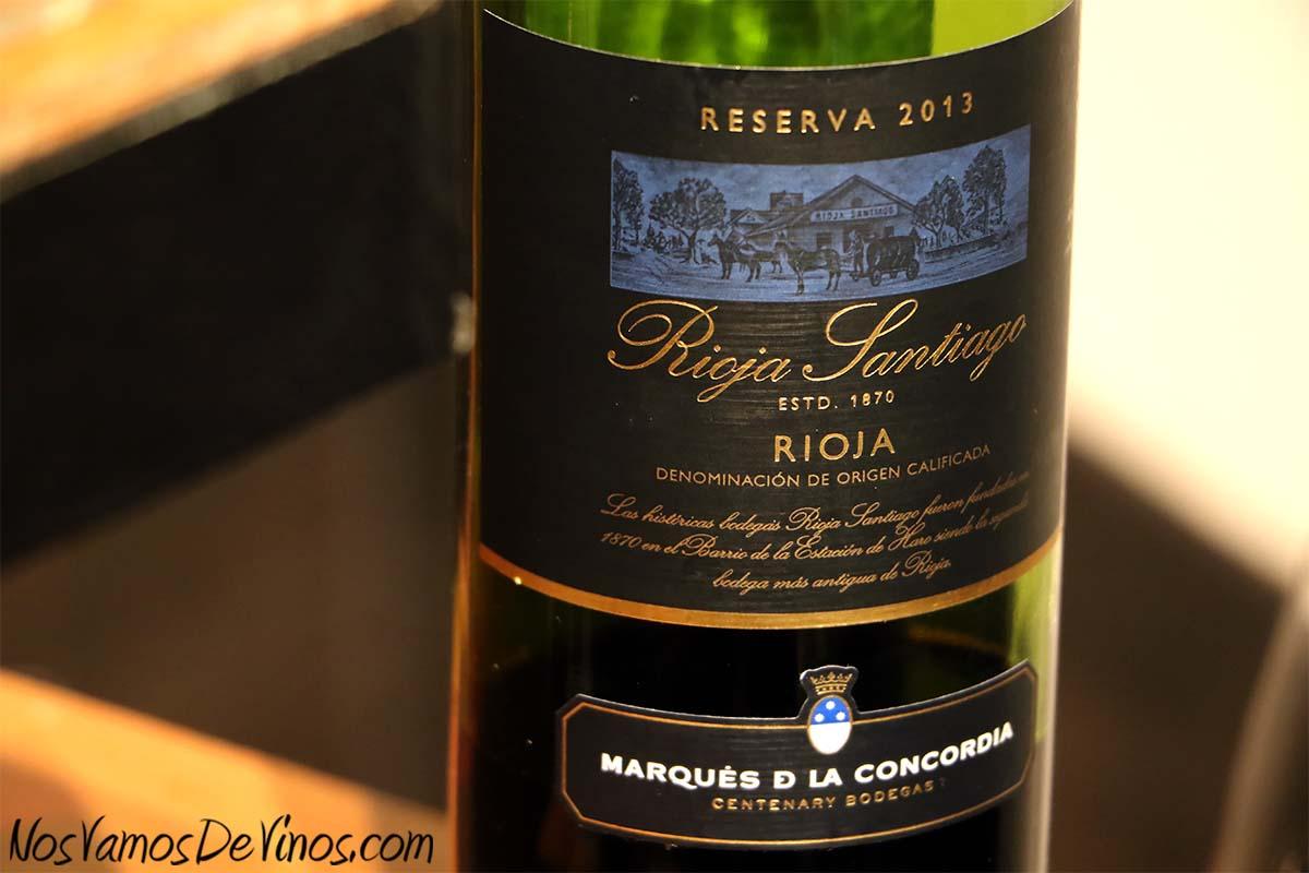 Rioja Santiago Reserva 2013 Detalle Etiqueta