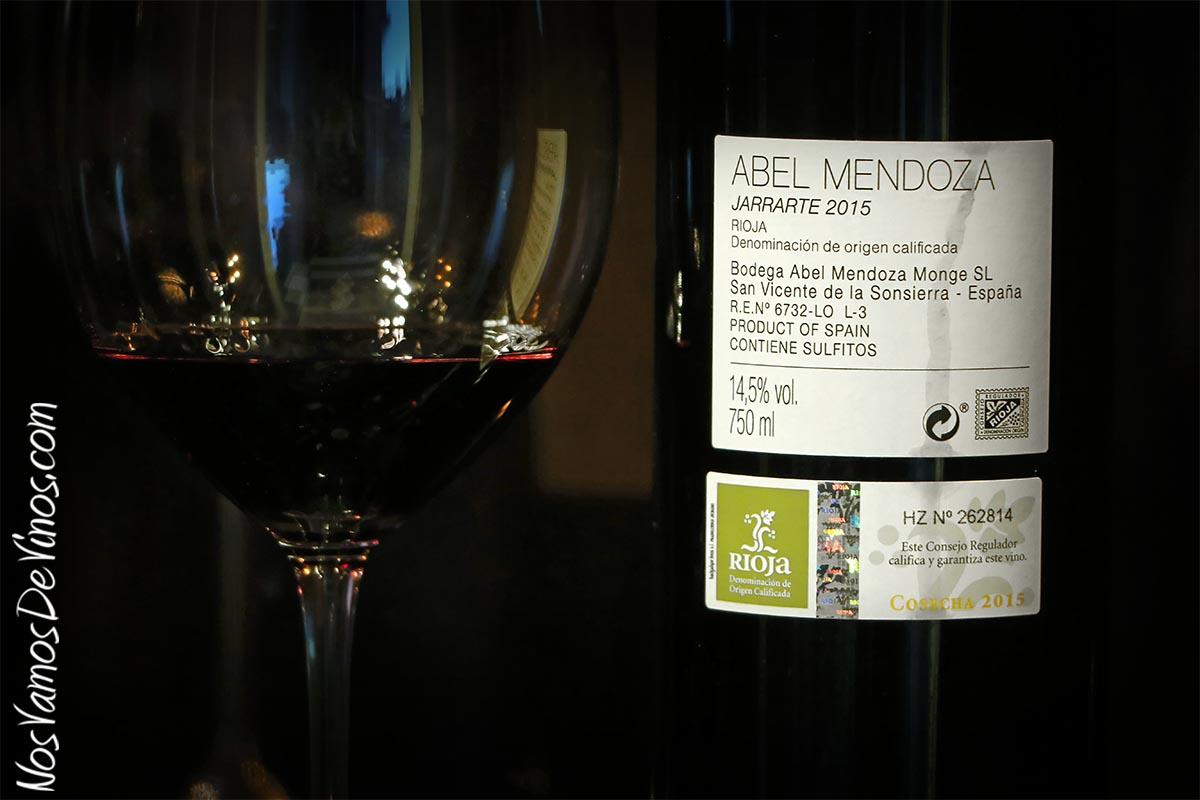 Abel Mendoza Jarrarte 2015 Etiqueta Trasera