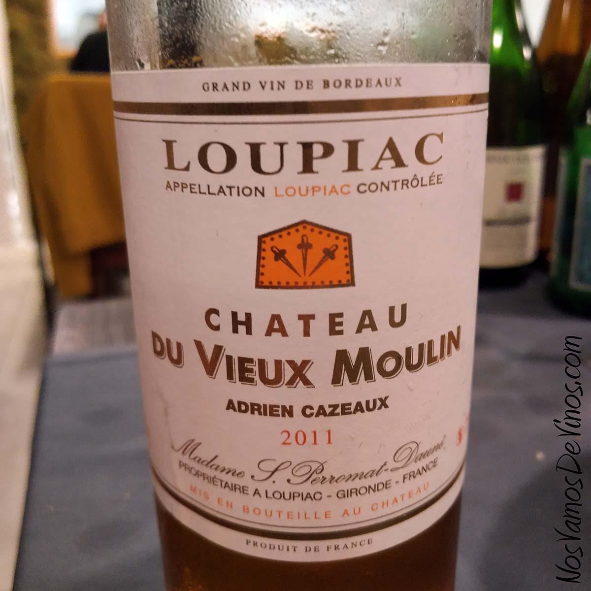 Chateau Du Vieux Moulin Loupiac 2011 Detalle