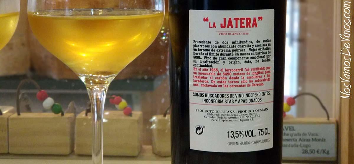 La Jatera Vino Blanco 2016 Etiqueta Trasera