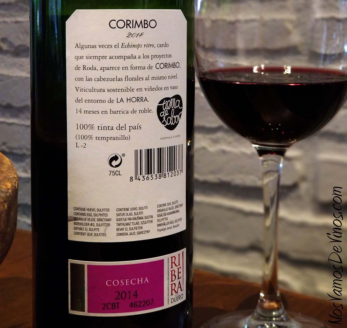 Corimbo 2014 Etiqueta Trasera