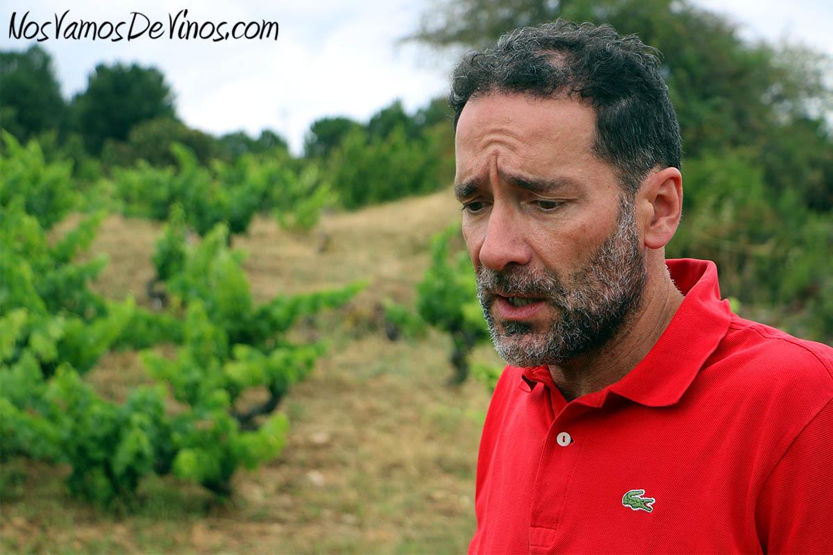 Nacho León en la viña Demencia