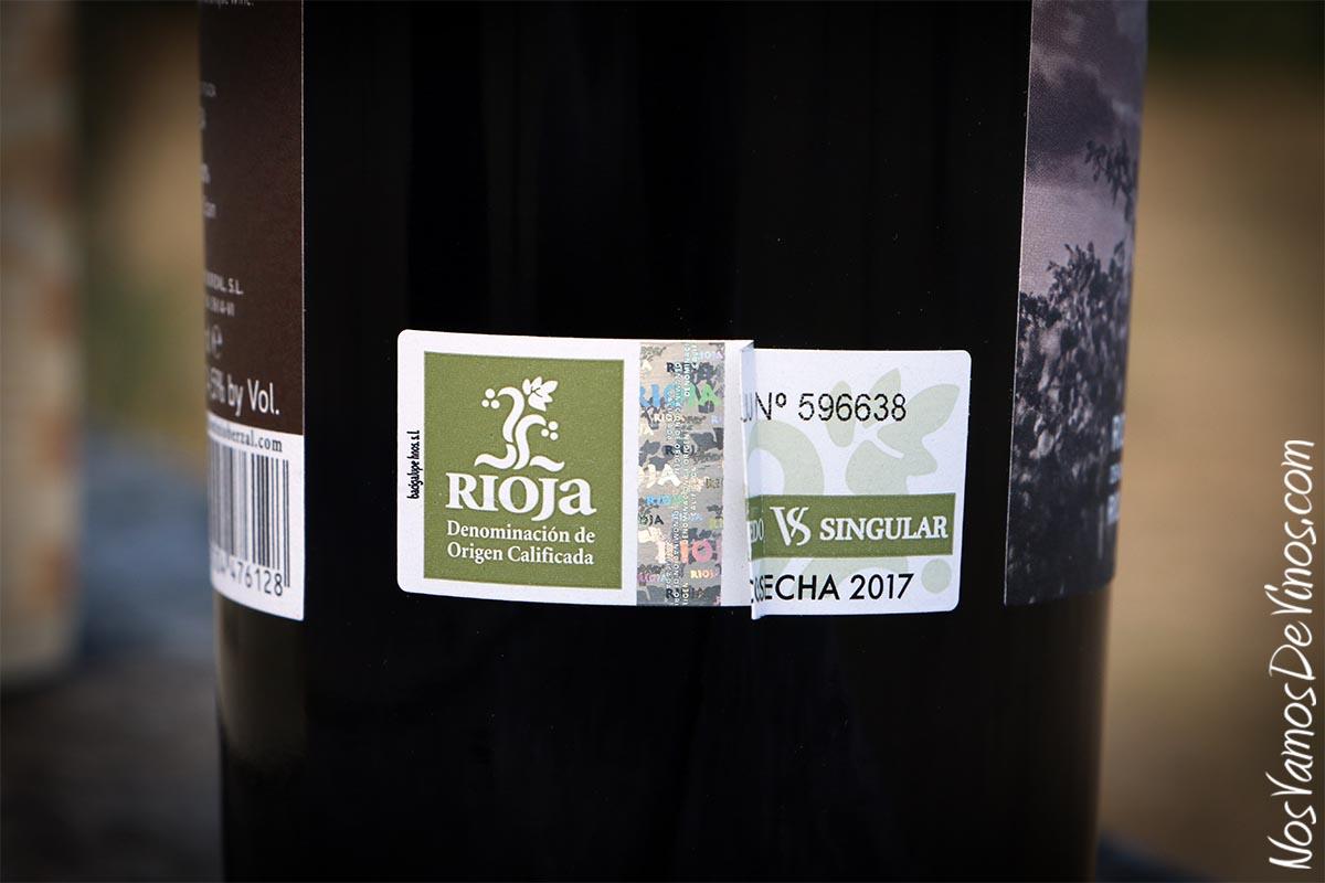 Las Laderas de José Luis 2017. Tirilla de la D. O. Rioja con designación de Viñedo Singular