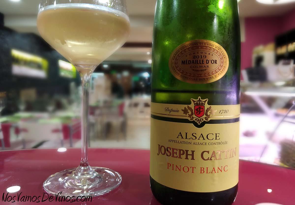 Joseph Cattin Pinot Blanc 2018 Etiqueta