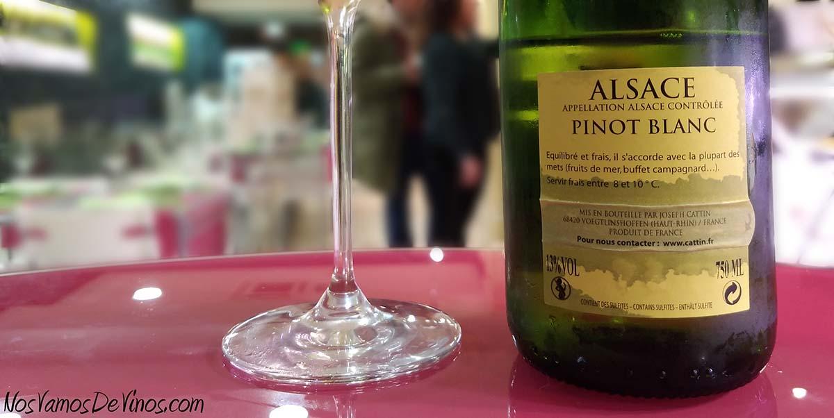 Joseph Cattin Pinot Blanc 2018 Etiqueta Trasera
