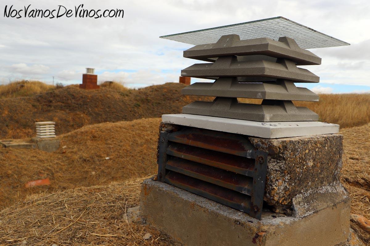 La Osa Vinos Bodega,Chimeneas