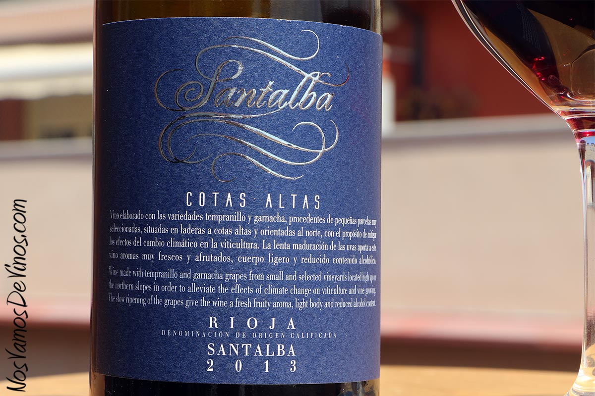 Santalba Cotas Altas 2013 Etiqueta