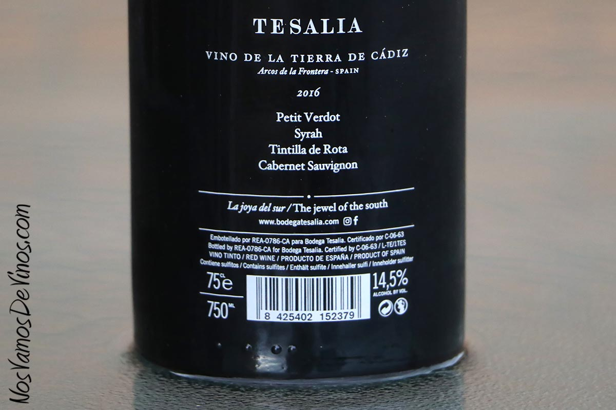 Tesalia 2016 Etiqueta Trasera