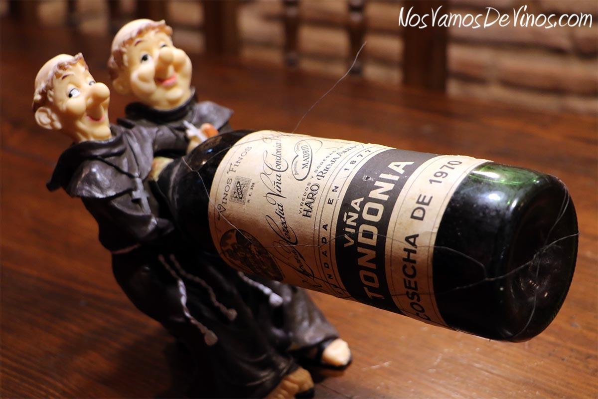 Revellín Histórico. Botella de Viña Tondonia de 1970