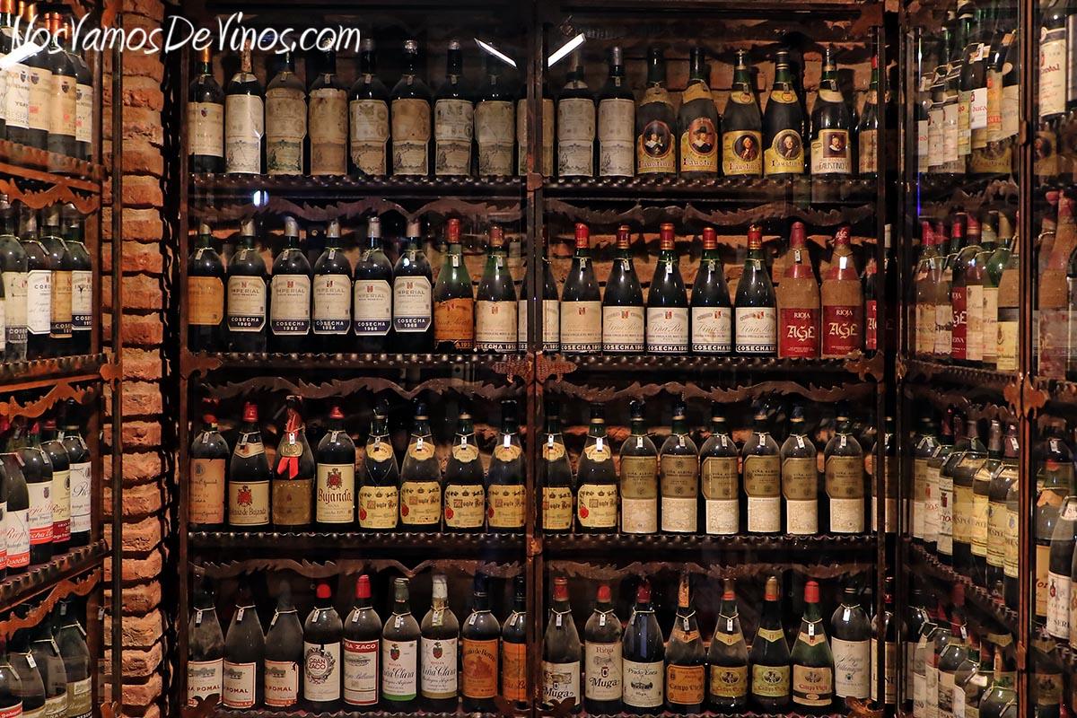 Revellín Histórico. Colección de botellas de Rioja