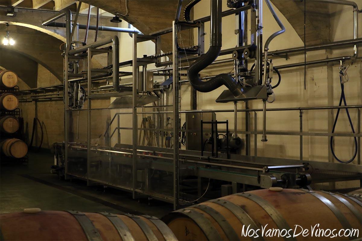 Bodegas Corral Tren lavado de barricas