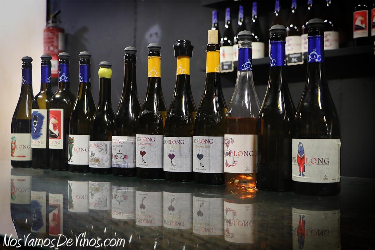 Cata de los vinos Forlong.