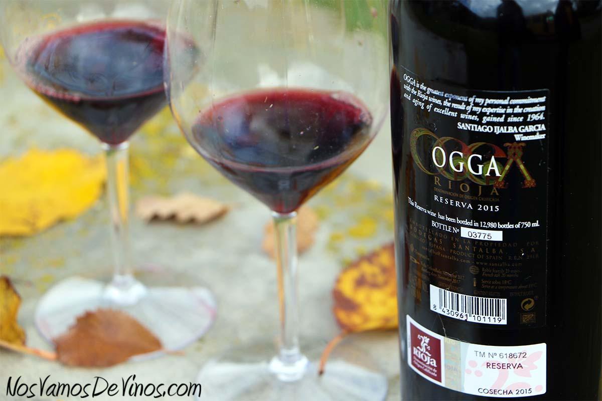 Ogga Reserva 2015 Etiqueta Trasera